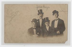 Primary view of object titled '[Four Gentlemen Wearing Formal Wear and Hats]'.