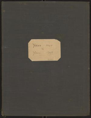 Primary view of object titled '[Kempner Scrapbook 1945-1948]'.