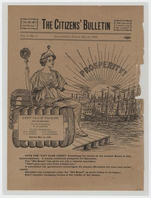 Primary view of object titled 'The Citizen's Bulletin, Volume 1, Number 1, May 8, 1907'.