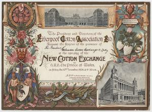 Primary view of object titled '[Invitation for Opening of New Cotton Exchange]'.