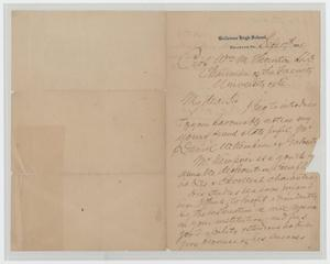 Primary view of object titled '[Letter from W. R. Abbot to Prof. Wm. M. Thornton, September 17, 1895]'.