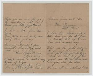 Primary view of object titled '[Letter from Lyda Kempner to Mrs. Burgorver, June 24, 1884]'.
