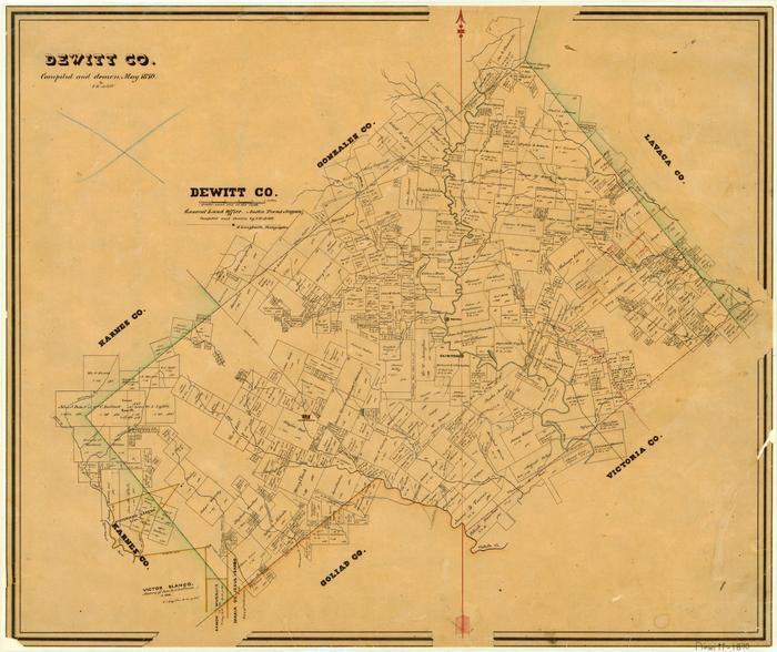 Map Of Yorktown Tx.Dewitt County The Portal To Texas History