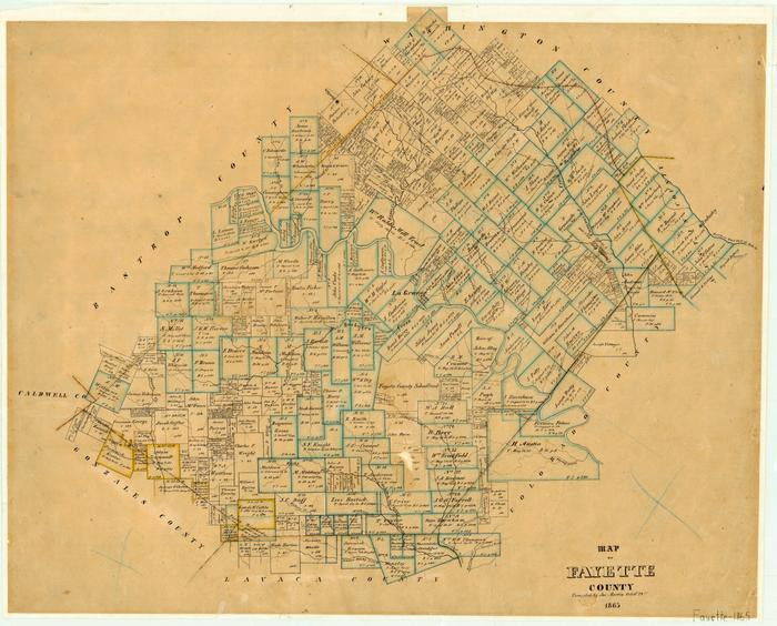 Map of Fayette County - The Portal to Texas History