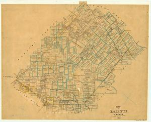Primary view of object titled 'Map of Fayette County'.