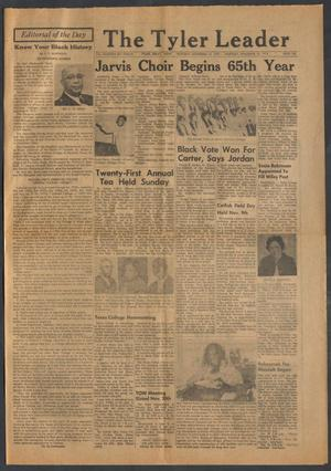 Primary view of object titled 'The Tyler Leader (Tyler, Tex.), Vol. 14, No. 12, Ed. 1 Thursday, November 18, 1976'.