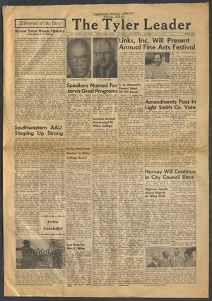Primary view of object titled 'The Tyler Leader (Tyler, Tex.), Vol. 13, No. 7, Ed. 1 Saturday, April 26, 1975'.