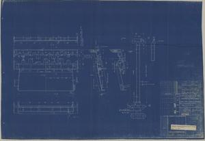 "Primary view of object titled 'Loading Table & Receiving Brackets for 5"" gun Ammunition Hoists No 13-16'."