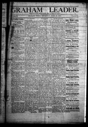 Primary view of Graham Leader. (Graham, Tex.), Vol. 9, No. 49, Ed. 1 Thursday, July 23, 1885