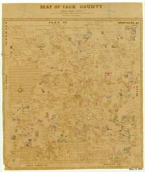 Primary view of object titled 'Map of Jack County'.