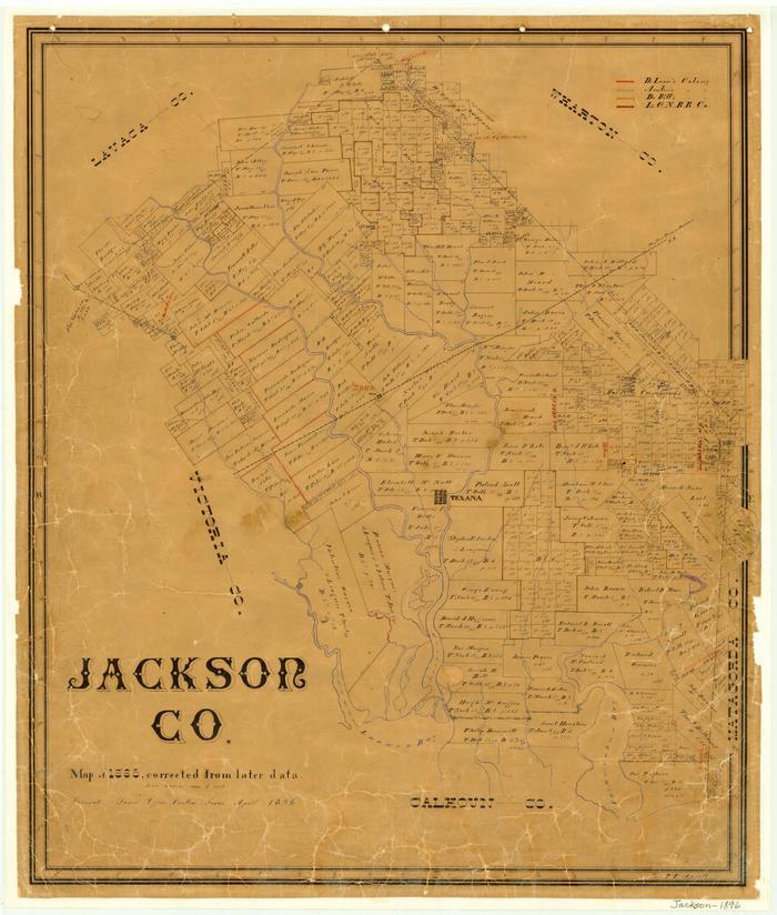 Jackson County Texas Map Jackson County   The Portal to Texas History