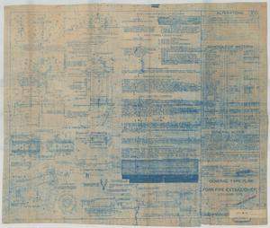 Primary view of object titled 'Foam Fire Extinguisher Stationary Type - General Type Plan'.