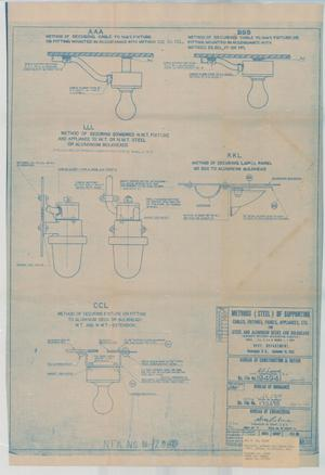 Primary view of object titled 'Methods (Steel) of Supporting Cables, Fixtures, Panels Appliances, Etc for Steel & Aluminum Dk.s & Bulkheads, 19 of 39'.