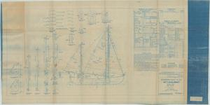Primary view of object titled 'Standard Boat Plan- 30FT Whaleboat- Ketch Rig, Sail Plan'.
