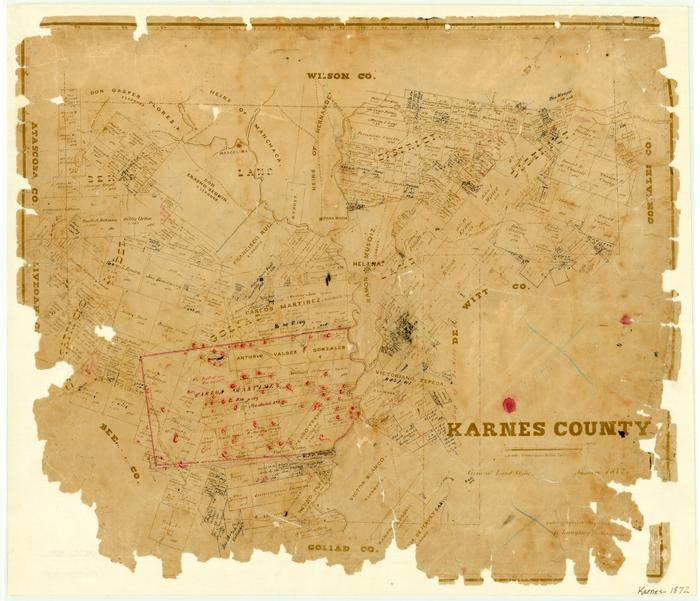 Karnes County - The Portal to Texas History on pettus tx map, south texas area map, texas cities map, goliad texas map, kenedy texas map, texas hill country road map, yorktown texas map, texas rivers map, runge tx map, texas lakes map, otto tx map, texas counties map,