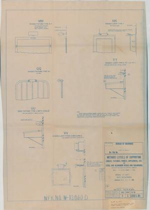 Primary view of object titled 'Methods of Supporting Cables, Fixtures, Panels, Appliances for Steel & Aluminum Dk.s & Bulkheads'.