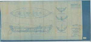 Primary view of object titled 'Standard Boat Plan- 30FT Whaleboat- Ketch Rig, Inboard Profileplan'.
