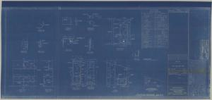 Primary view of object titled 'Arrgt. & Details of paint & inflammable liquid stores compt A-43, 1st platform fr 12.5-14'.
