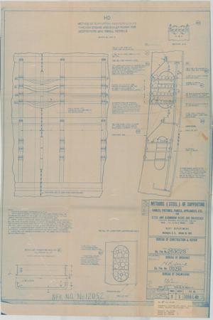 Primary view of object titled 'Methods (Steel) of Supporting Cables, Fixtures, Panels Appliances, Etc for Steel & Aluminum Dk.s & Bulkheads, 11 of 39'.