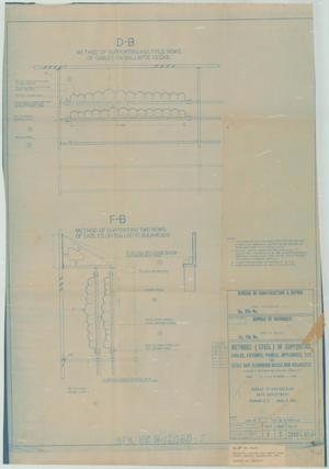 Primary view of object titled 'Supporting Multiple Rows of Cables on Ballistic Dk.s - Methods (Steel) of Supporting Cables - sheet 39 of 39'.
