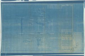 "Primary view of object titled 'Foundation for Dk. W"" Controller 2nd Dk. Abaft 7'-3"" Off Centerline to Stbd Frs 23 - 24'."