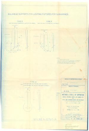 Primary view of object titled 'Methods (Steel) of Supporting Cables, Fixtures, Panels Appliances, Etc for Steel & Aluminum Dk.s & Bulkheads - 36 of 39'.