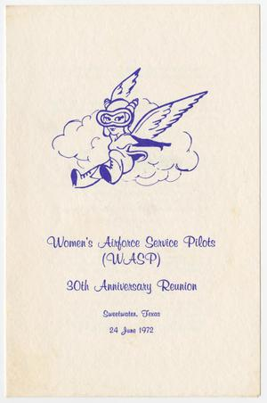Primary view of object titled '[Program for the WASP 30th Anniversary Reunion]'.