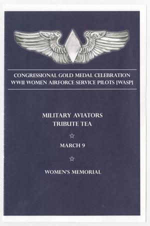 Primary view of object titled 'Congressional Gold Medal Celebration WWII Women Airforce Service Pilots [WASP]'.