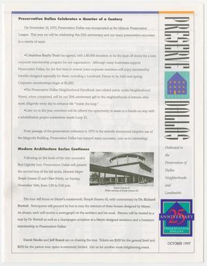 Preserve Dallas, October 1997