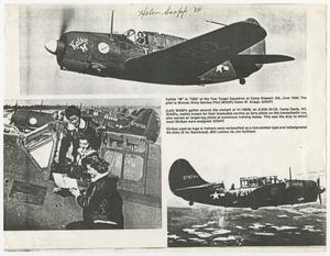 Primary view of object titled '[Three Photographs of Women Flying Airplanes]'.