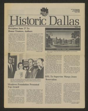 Primary view of object titled 'Historic Dallas, Volume 5, Number 10, Summer 1984'.