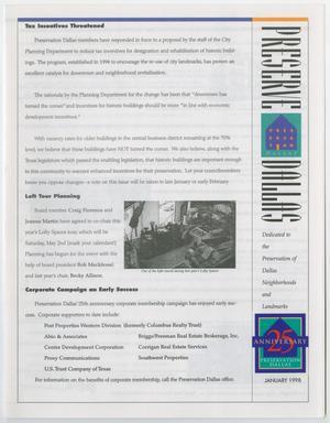 Preserve Dallas, January 1998