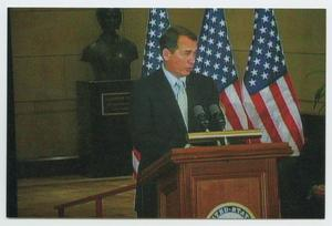 Primary view of object titled '[John Boehner Speaking at a Podium]'.