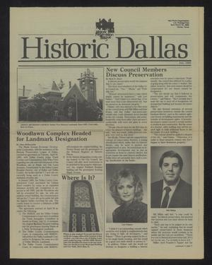 Primary view of object titled 'Historic Dallas, July 1985'.