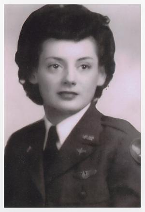Primary view of object titled '[Portrait of Helen Snapp in Her WASP Uniform #5]'.