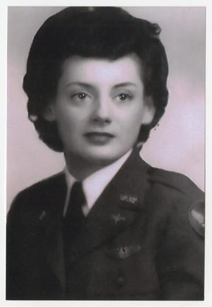 Primary view of object titled '[Portrait of Helen Snapp in Her WASP Uniform #6]'.