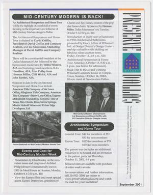 Preserve Dallas, September 2001