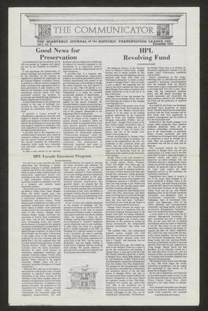 Primary view of object titled 'The Communicator, Volume 2, Number 4, November 1976'.