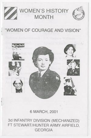 Primary view of object titled 'Women of Courage and Vision'.