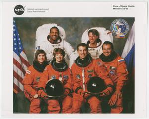 Primary view of object titled '[Group Photograph of the Crew for Space Shuttle Mission STS-63]'.