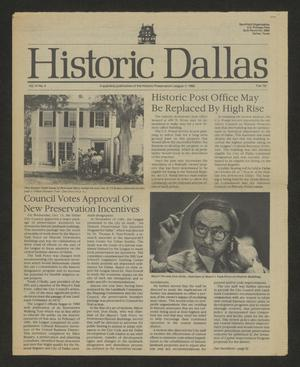 Primary view of object titled 'Historic Dallas, Volume 3, Number 4, Fall 1982'.