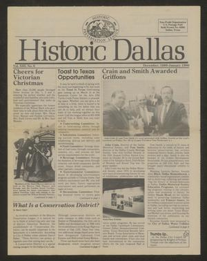 Primary view of object titled 'Historic Dallas, Volume 13, Number 6, December 1989-January 1990'.