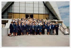 Primary view of object titled '[WASP attending USAFA WASP statue dedication]'.