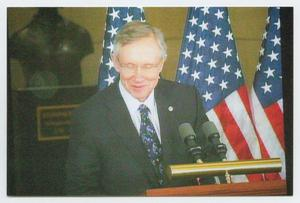 Primary view of object titled '[Harry Reid Speaking at a Podium]'.