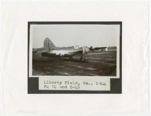 Primary view of object titled '[An Airplane at Liberty Field]'.