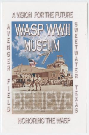 Primary view of object titled '[Program for WASP WWII Museum]'.