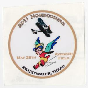 Primary view of object titled '[Circular Sticker for the 2011 WASP Homecoming]'.