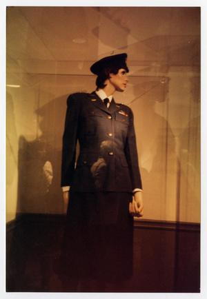 Primary view of object titled '[Mannequin in a WASP dress uniform]'.