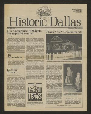 Primary view of object titled 'Historic Dallas, Volume 13, Number 1, February-March 1989'.