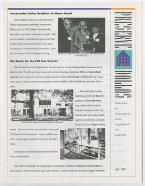 Preserve Dallas, July 1997